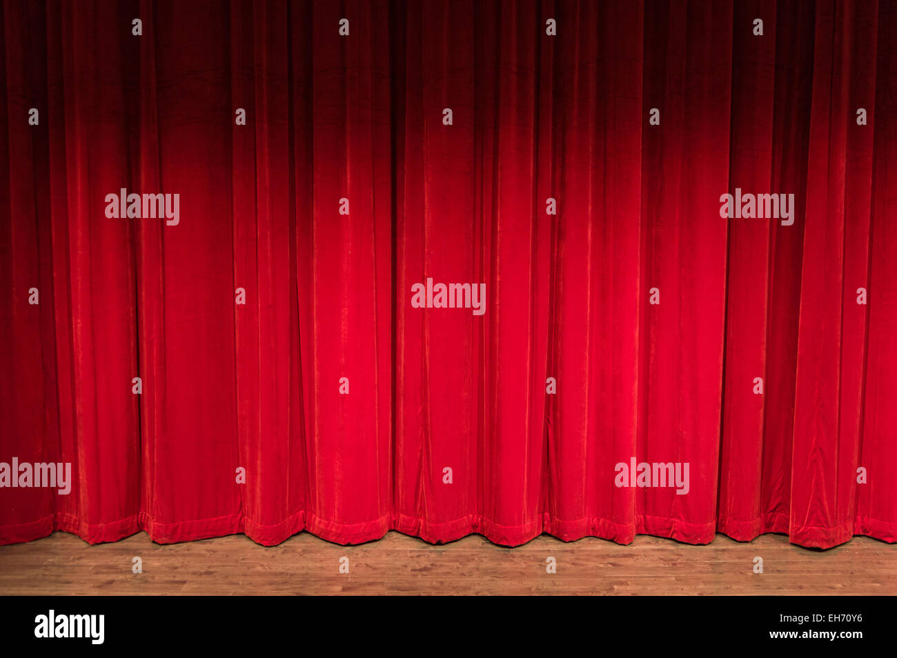 stock red with small curtain photo picture velvet theater stage curtains