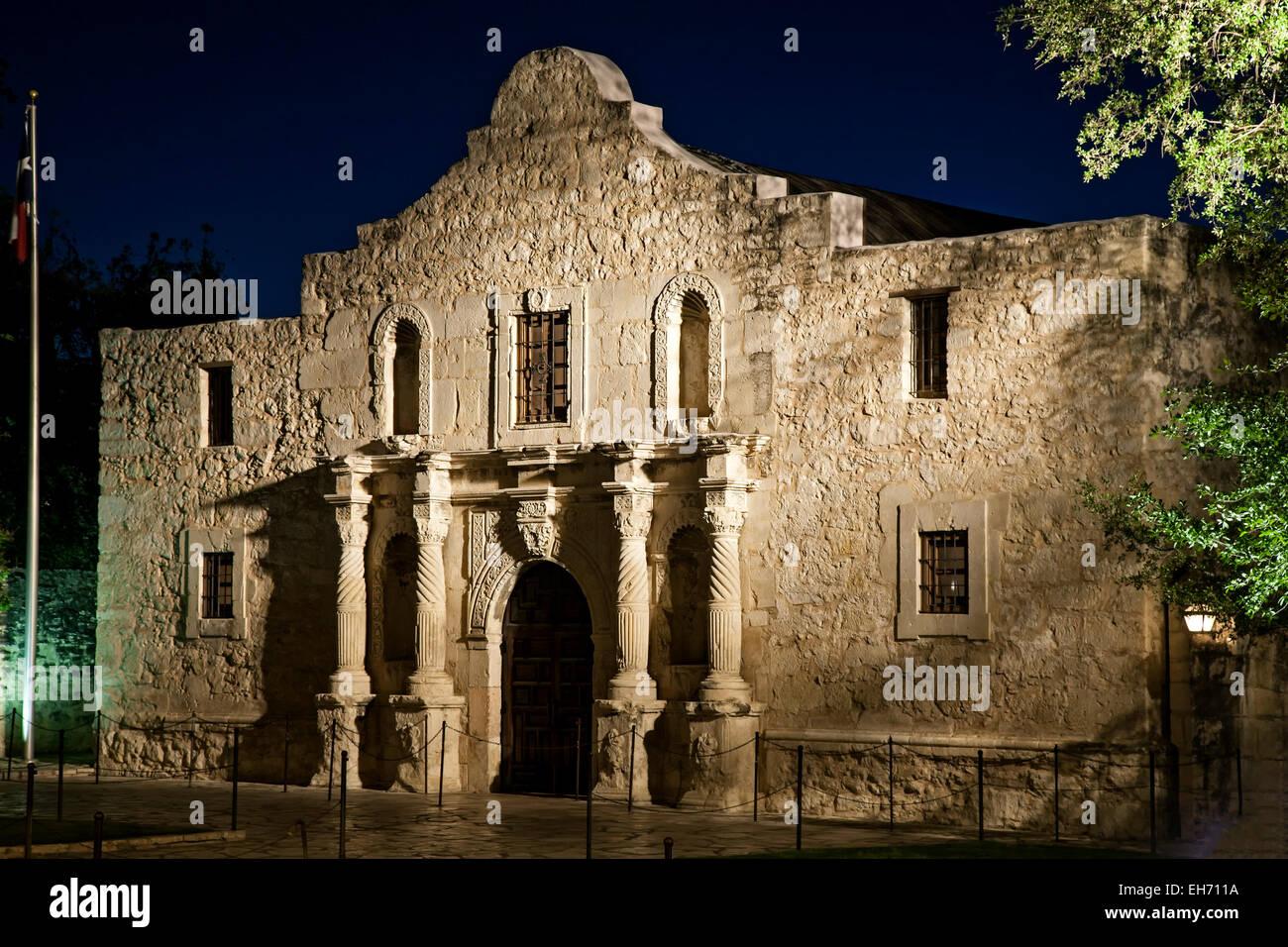 The Alamo (Mission San Antonio de Valero), San Antonio, Texas USA - Stock Image