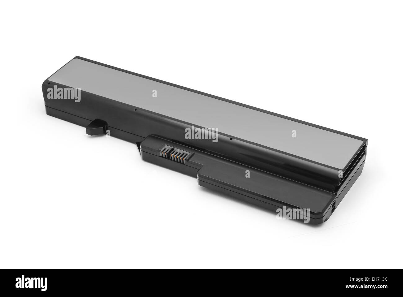 laptop battery isolated on white - Stock Image