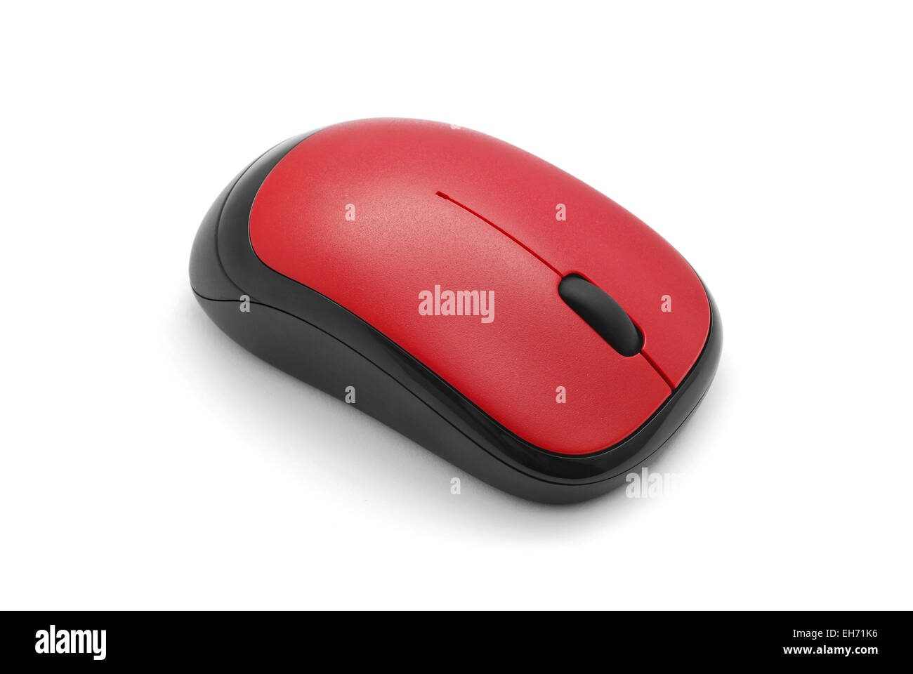 wireless computer mouse on white - Stock Image
