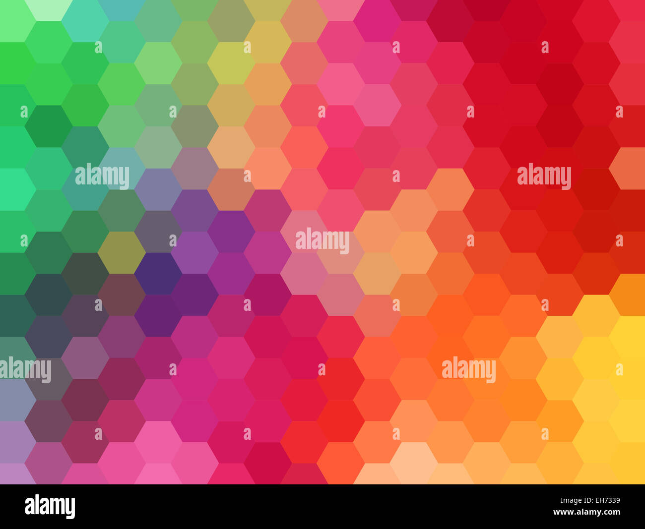 abstract colorful geometric vector background, hexagon pattern - Stock Image