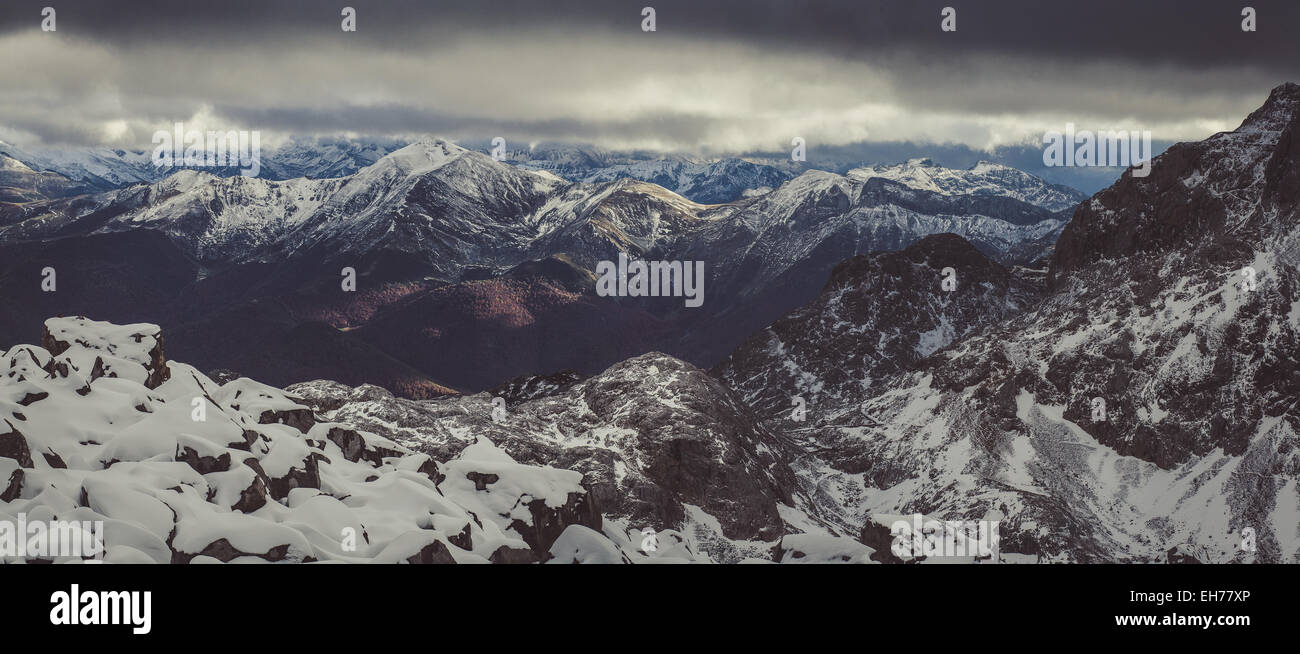 Moutains Panorama - Stock Image