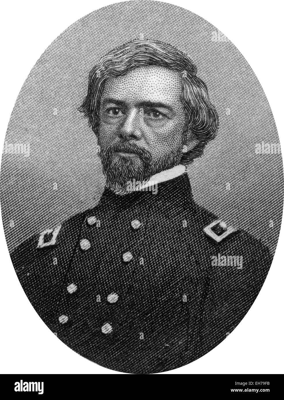 Engraving of Union Major General Isaac Ingalls Stevens - Stock Image