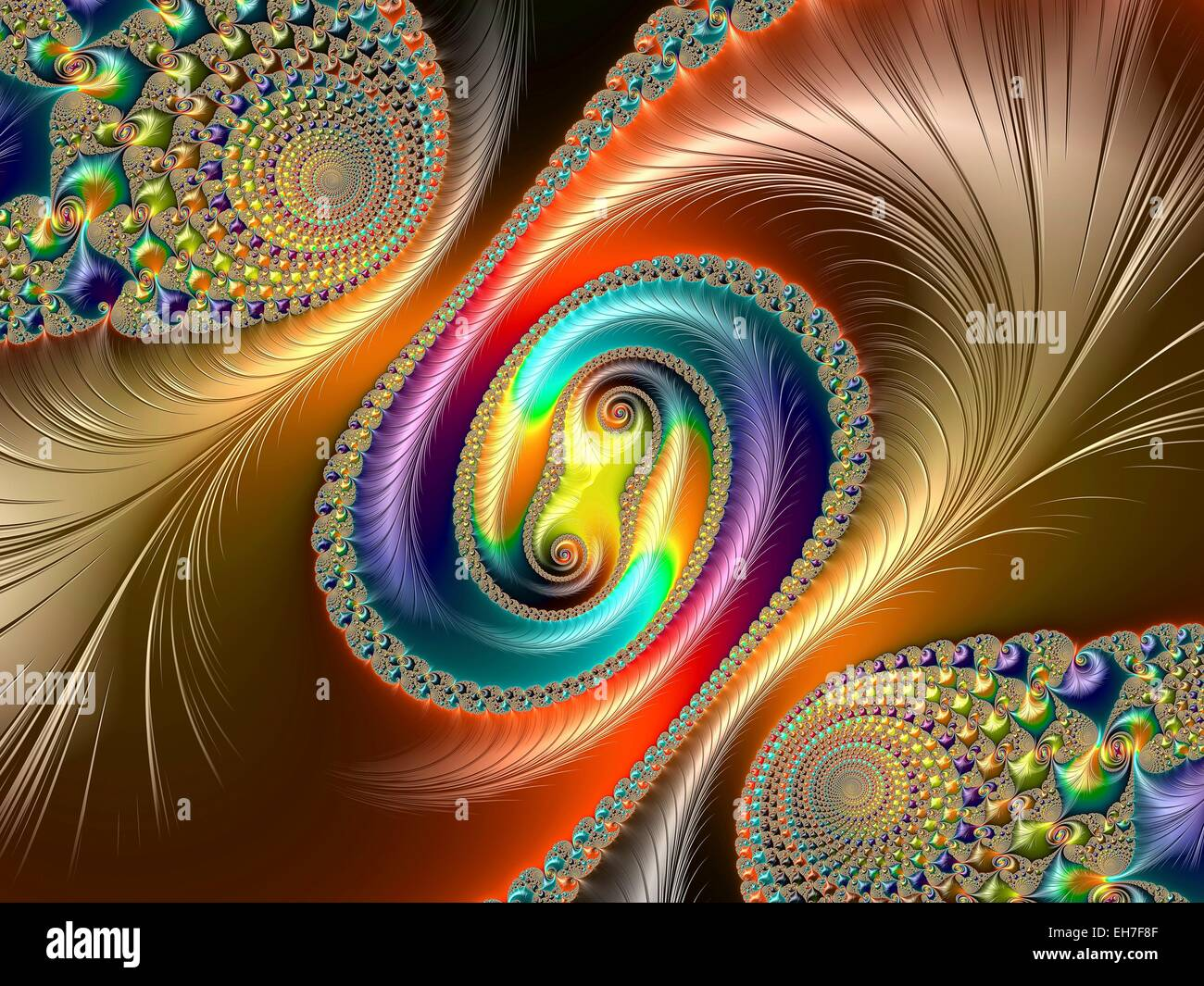 Julia-set fractal - Stock Image