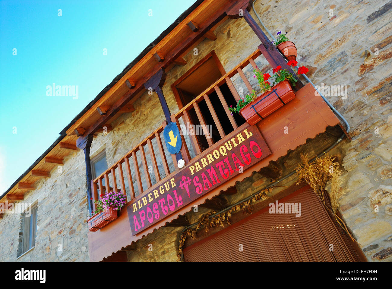 El Acebo, comarca de El Bierzo - Stock Image