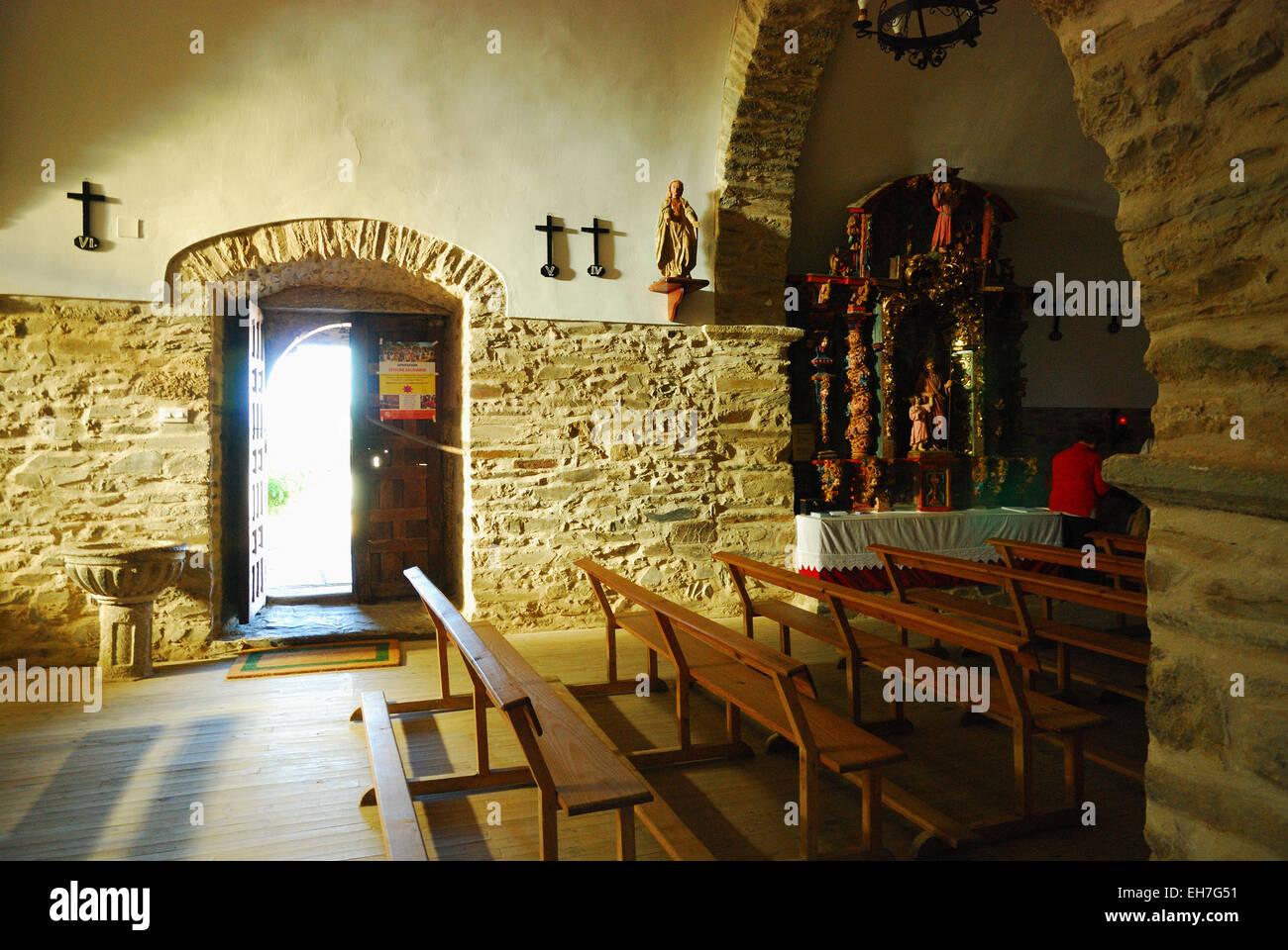 El Acebo, comarca de El Bierzo. Church of Saint Michael - Stock Image