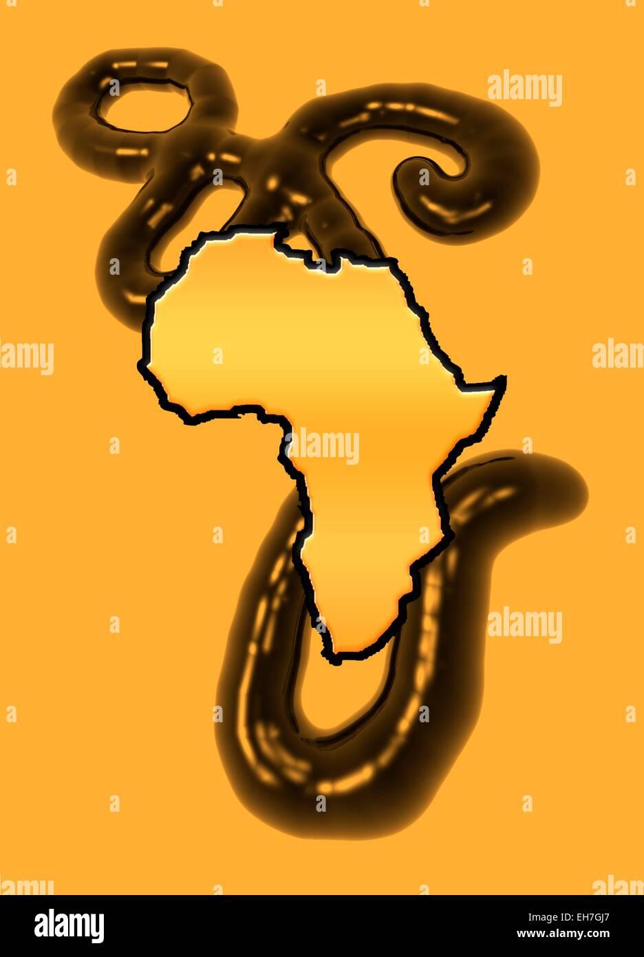Ebola epidemic, conceptual artwork Stock Photo