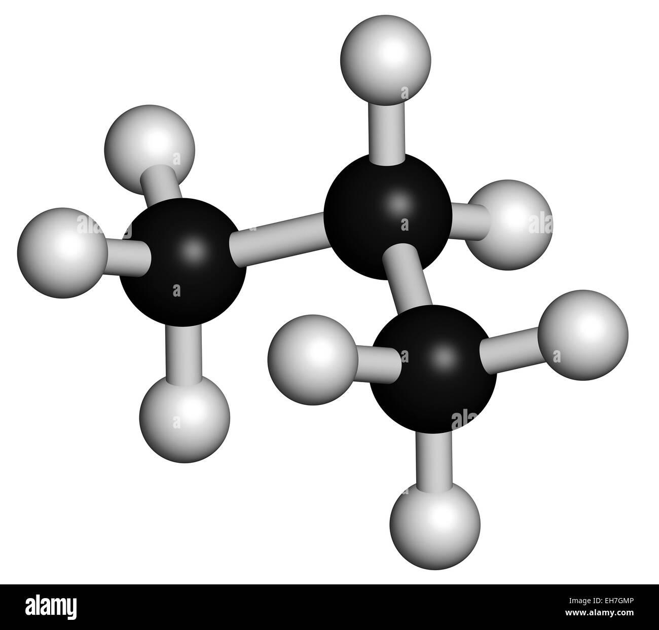 Propane Hydrocarbon Molecule Stock Photo 79457414 Alamy