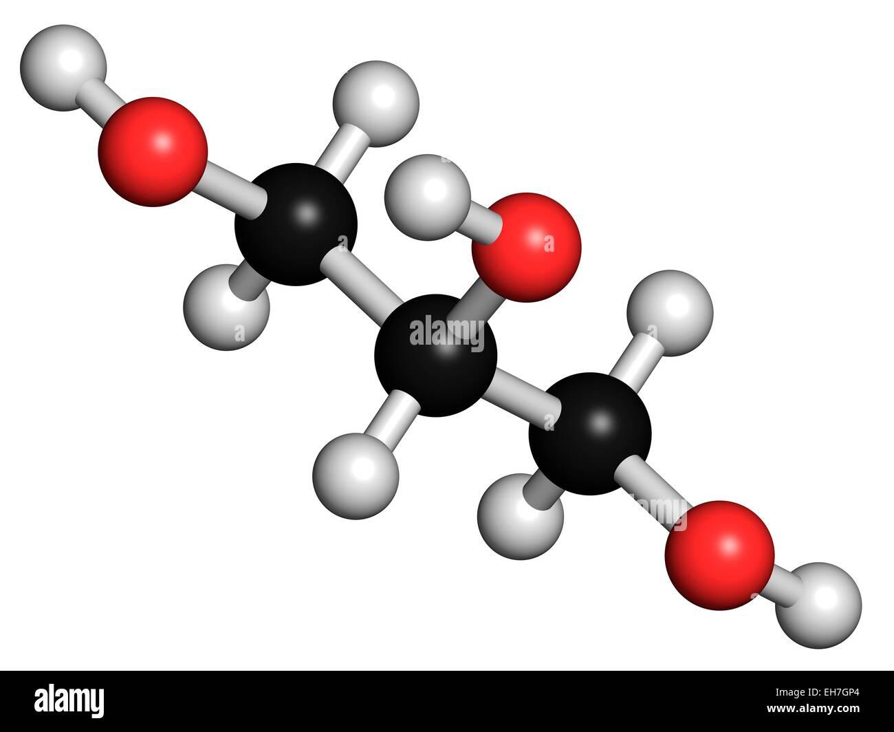 Glycerol molecule - Stock Image