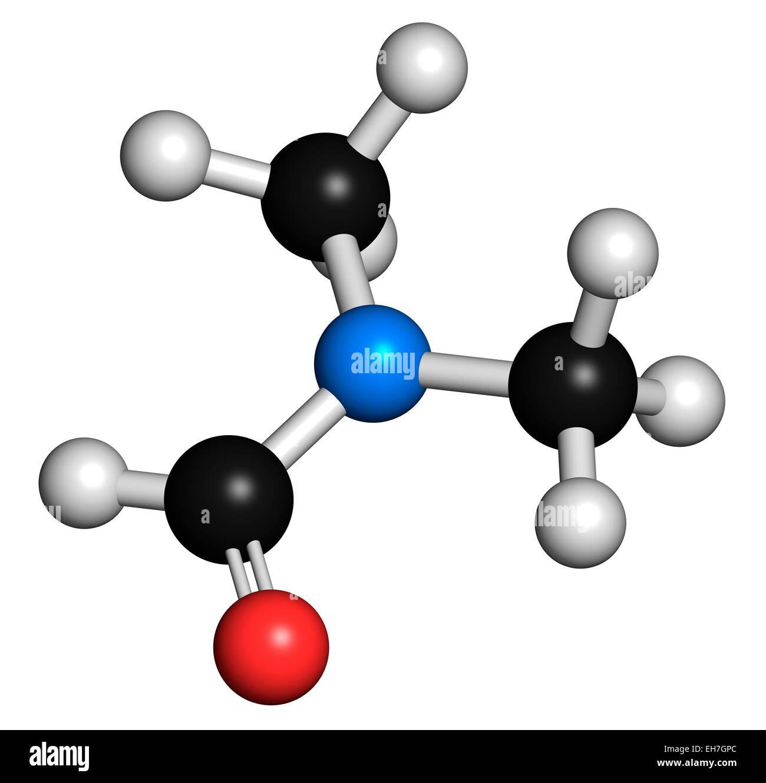 Dimethylformamide solvent molecule - Stock Image