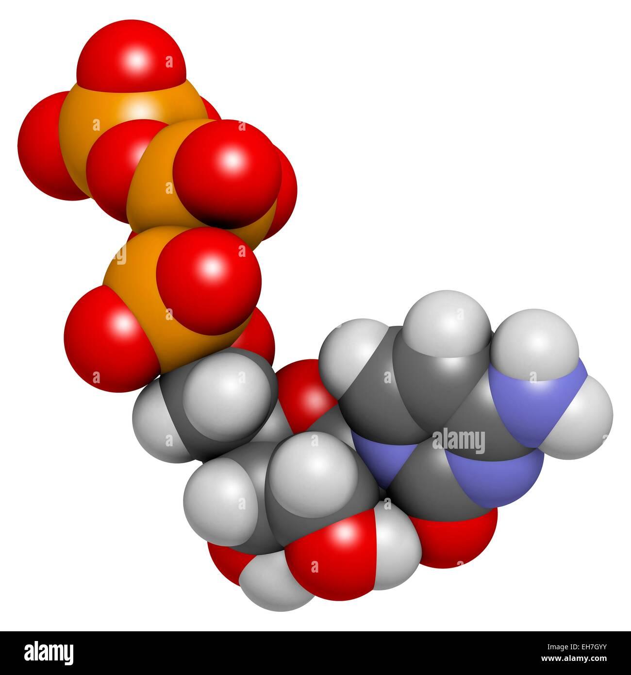 Cytidine triphosphate molecule Stock Photo