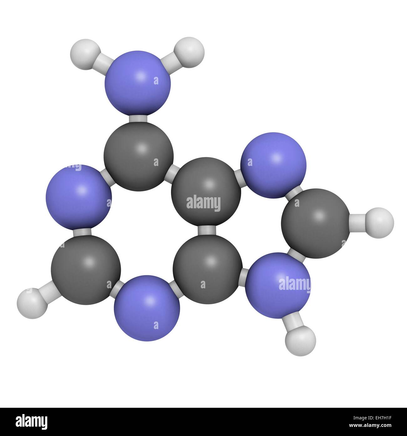 Adenine purine nucleobase molecule Stock Photo