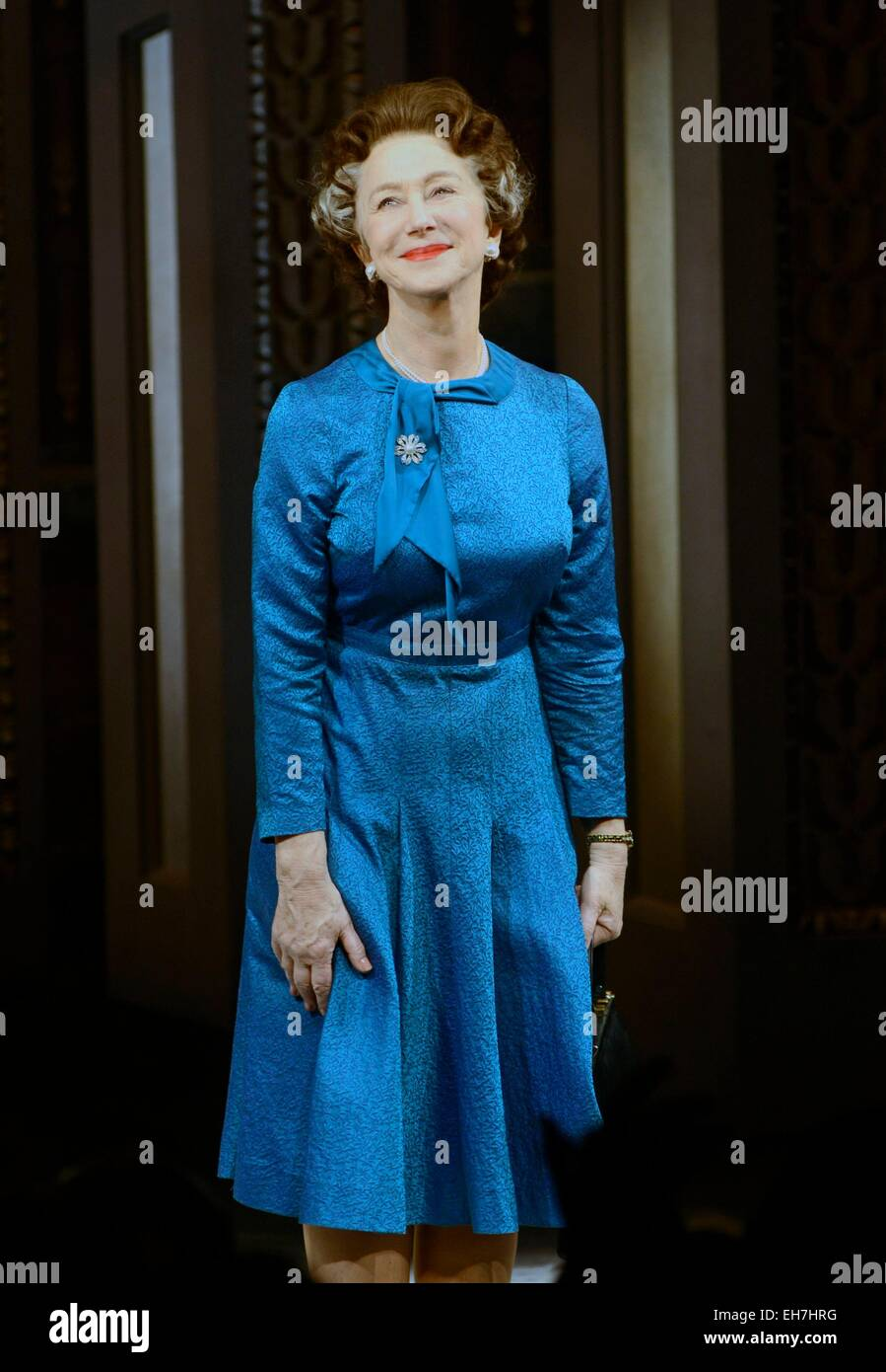 New York, NY, USA. 8th Mar, 2015. Helen Mirren in attendance for THE AUDIENCE Opening Night on Broadway, Gerald Schoenfeld Theatre, New York, NY March 8, 2015. Credit:  Derek Storm/Everett Collection/Alamy Live News Stock Photo