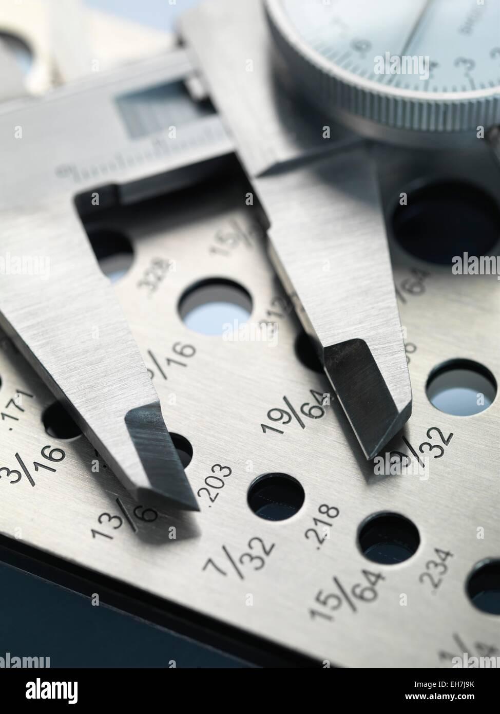 Engineering measurement tools - Stock Image