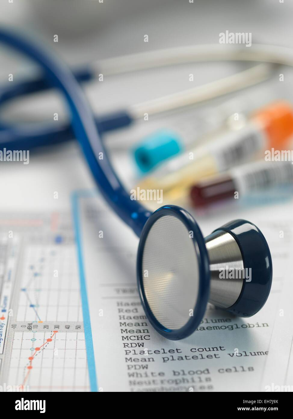 Stethoscope and paperwork - Stock Image