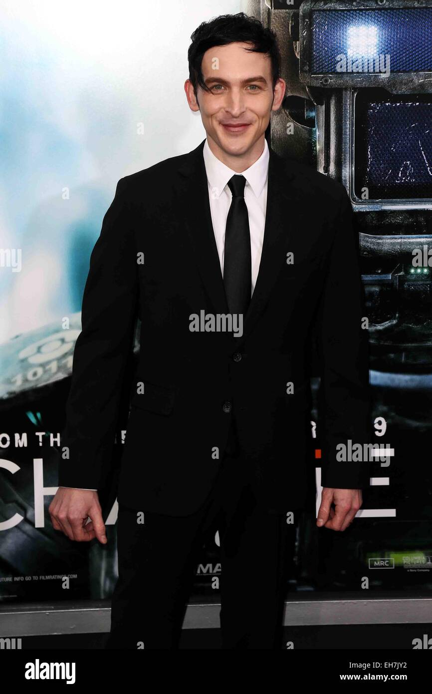 7d55fb8fbc3e Actor Robin Lord Taylor attends the premiere of  Chappie  at AMC Loews  Lincoln Square
