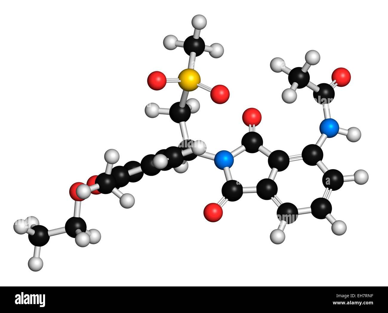 Apremilast psoriasis drug molecule - Stock Image