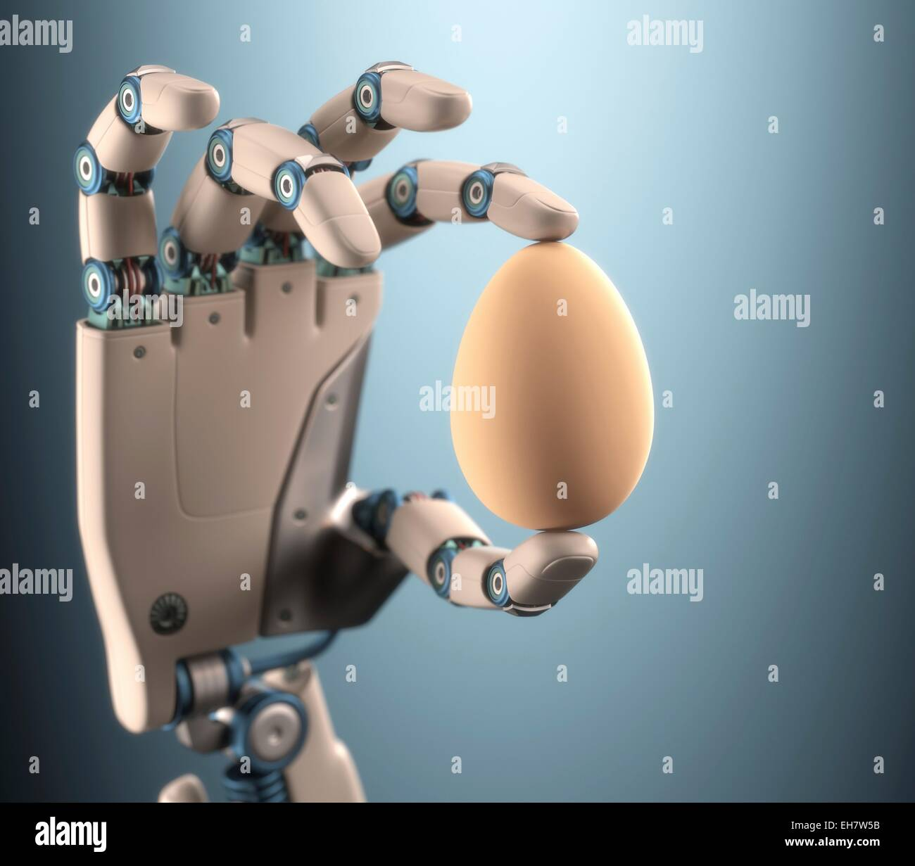 Robotic Hand Holding Egg Illustration Stock Photo 79464039 Alamy