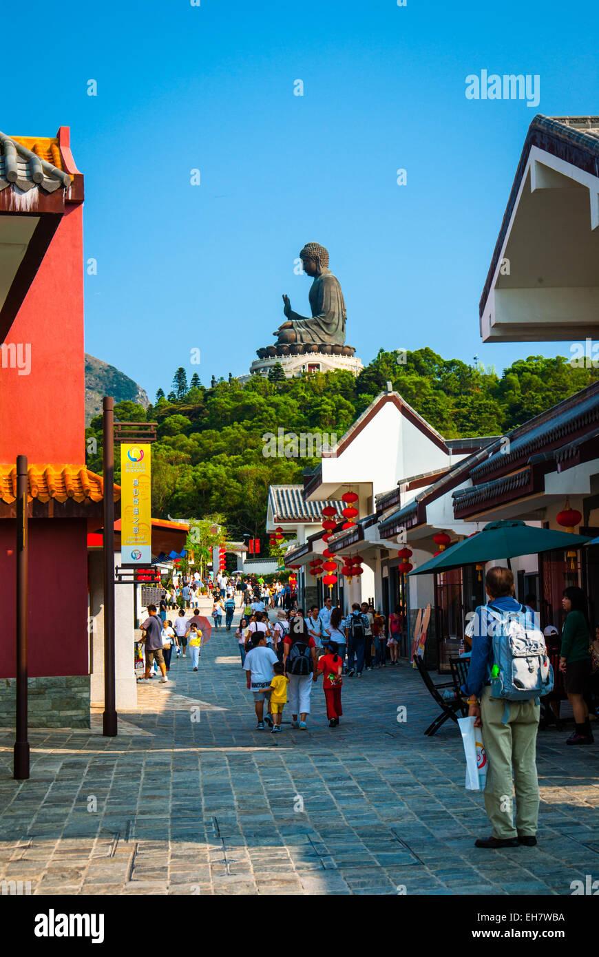 Ngong Ping Village, Lantau Island, Hong Kong - Stock Image