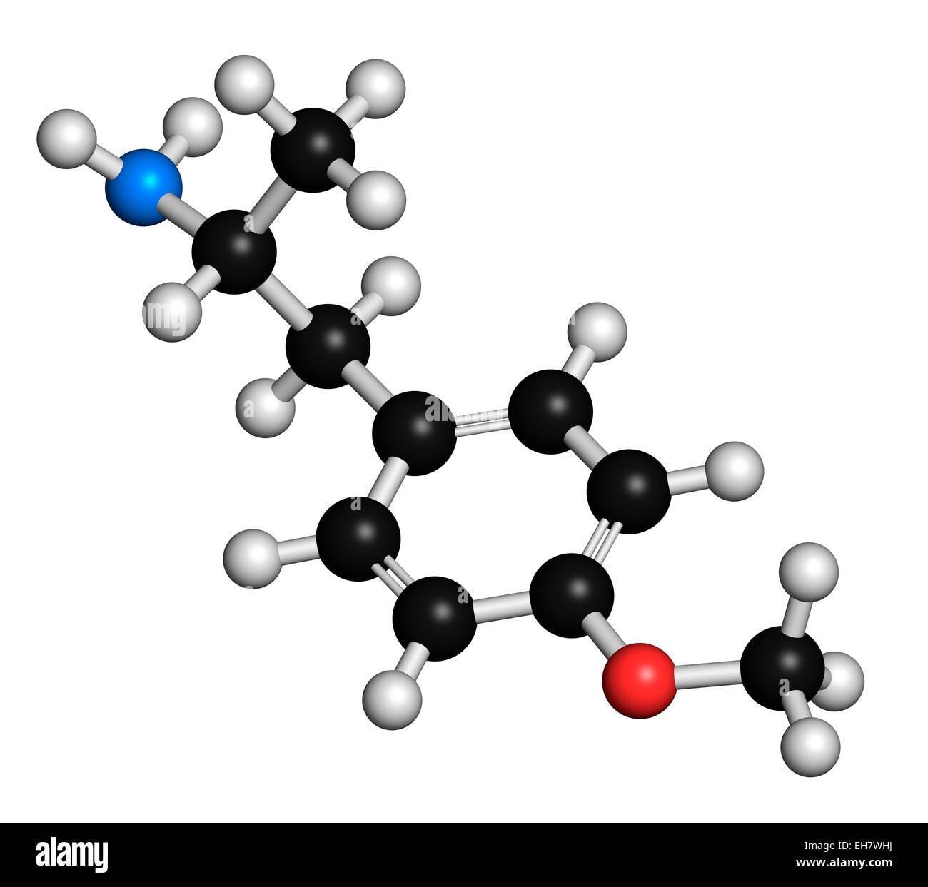 p-methoxyamphetamine hallucinogenic drug - Stock Image