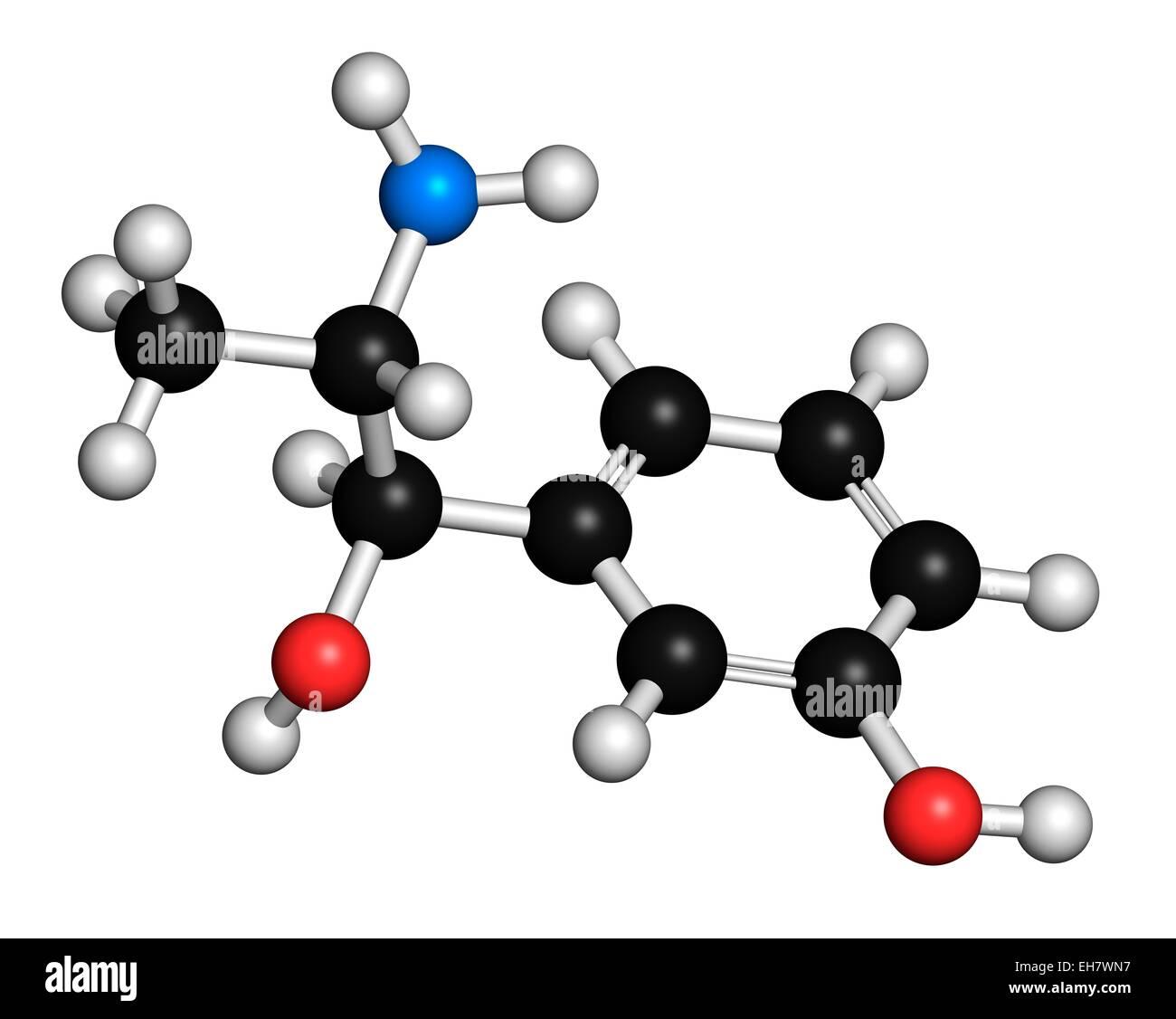 Metaraminol hypotension drug molecule - Stock Image