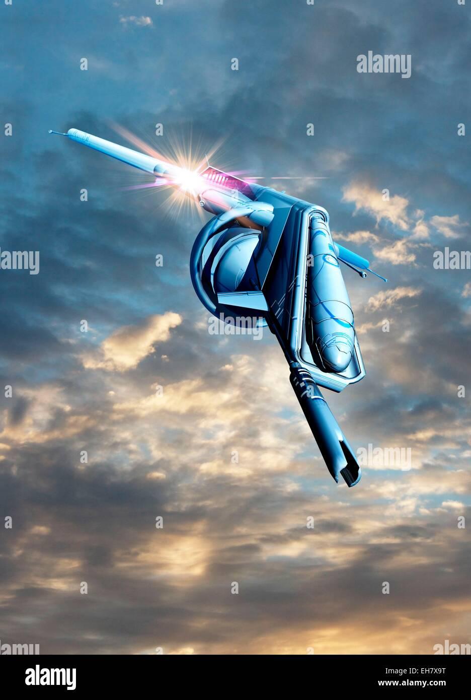 Spacecraft, illustration - Stock Image