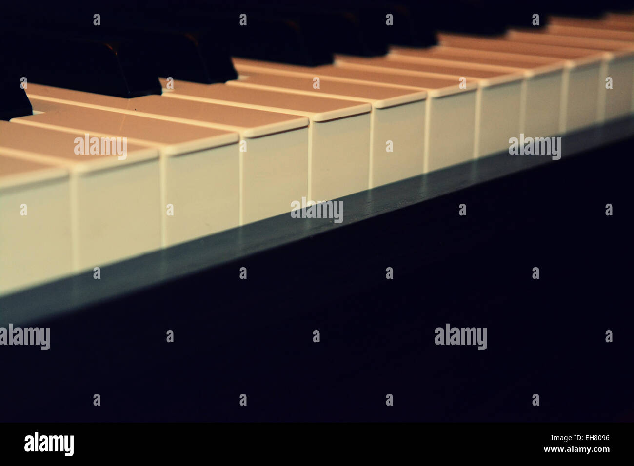 Piano keys - Stock Image