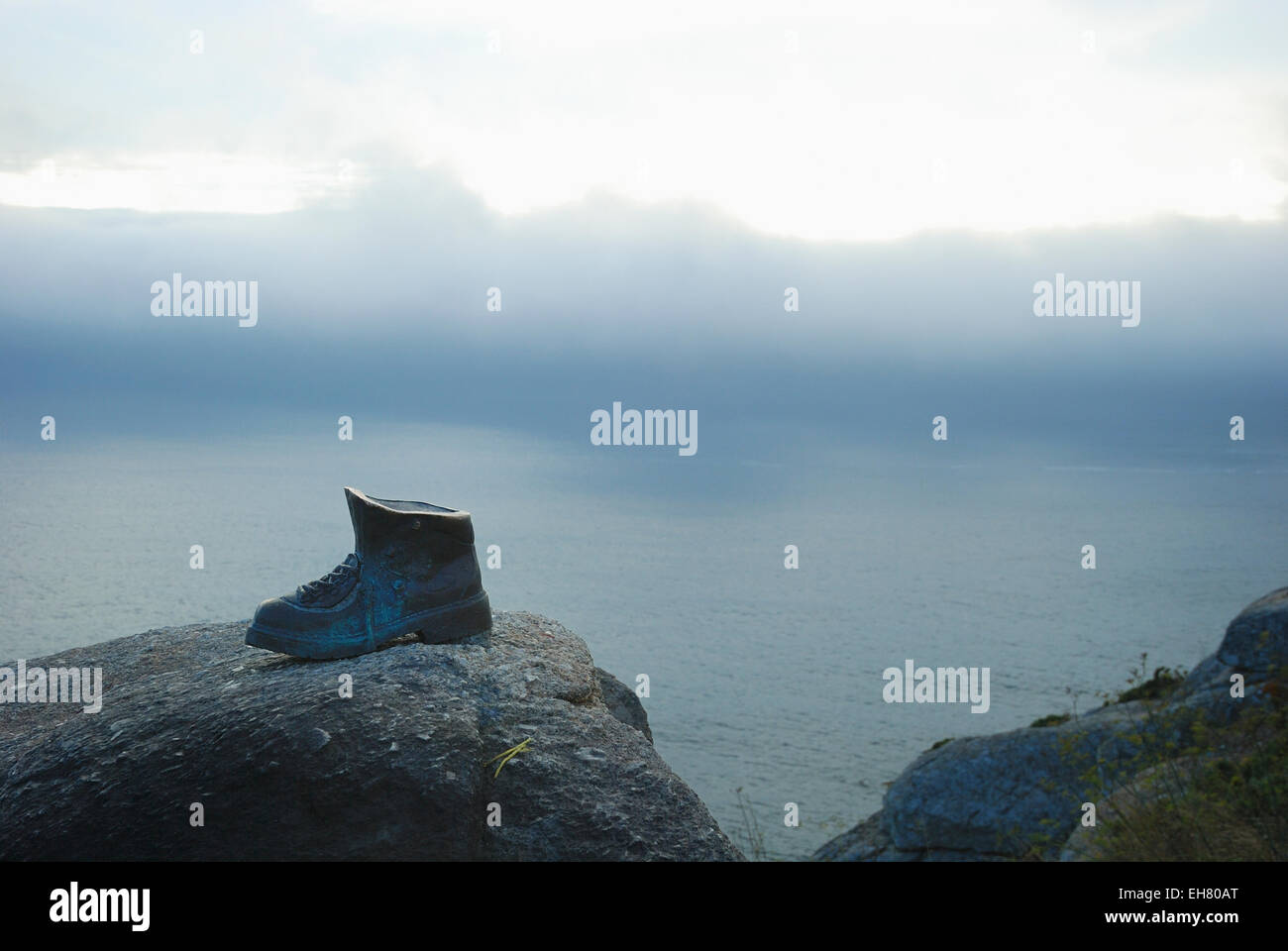 Finisterre, the end of the Camino de Santiago - The Way of St James - Stock Image