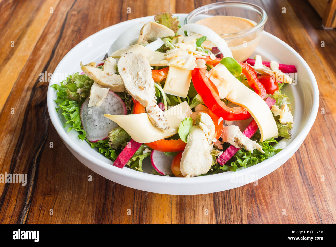 Chicken Caesar Salad In Restaurant Stock Photos Chicken Caesar
