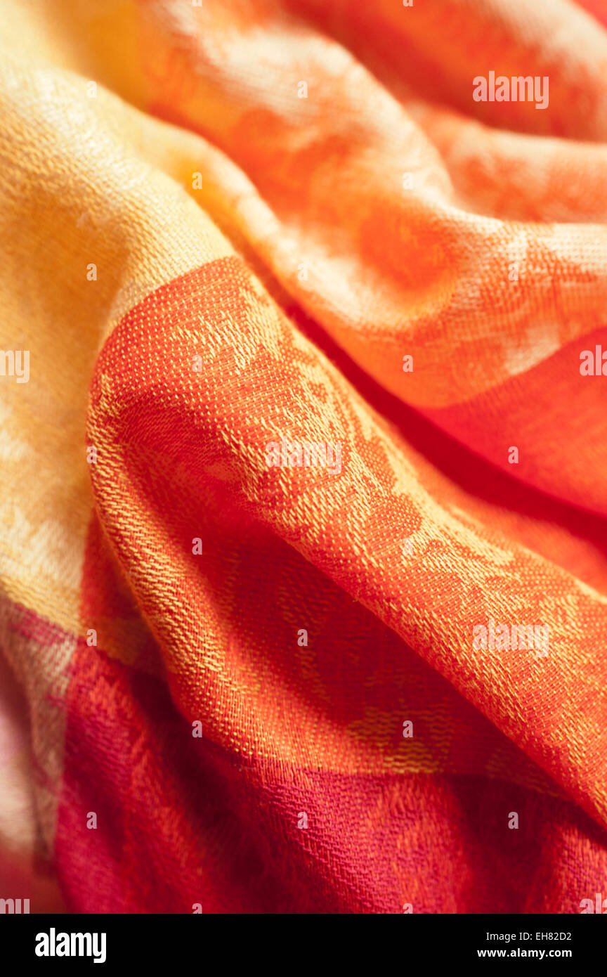 abstract colorful textile material - Stock Image