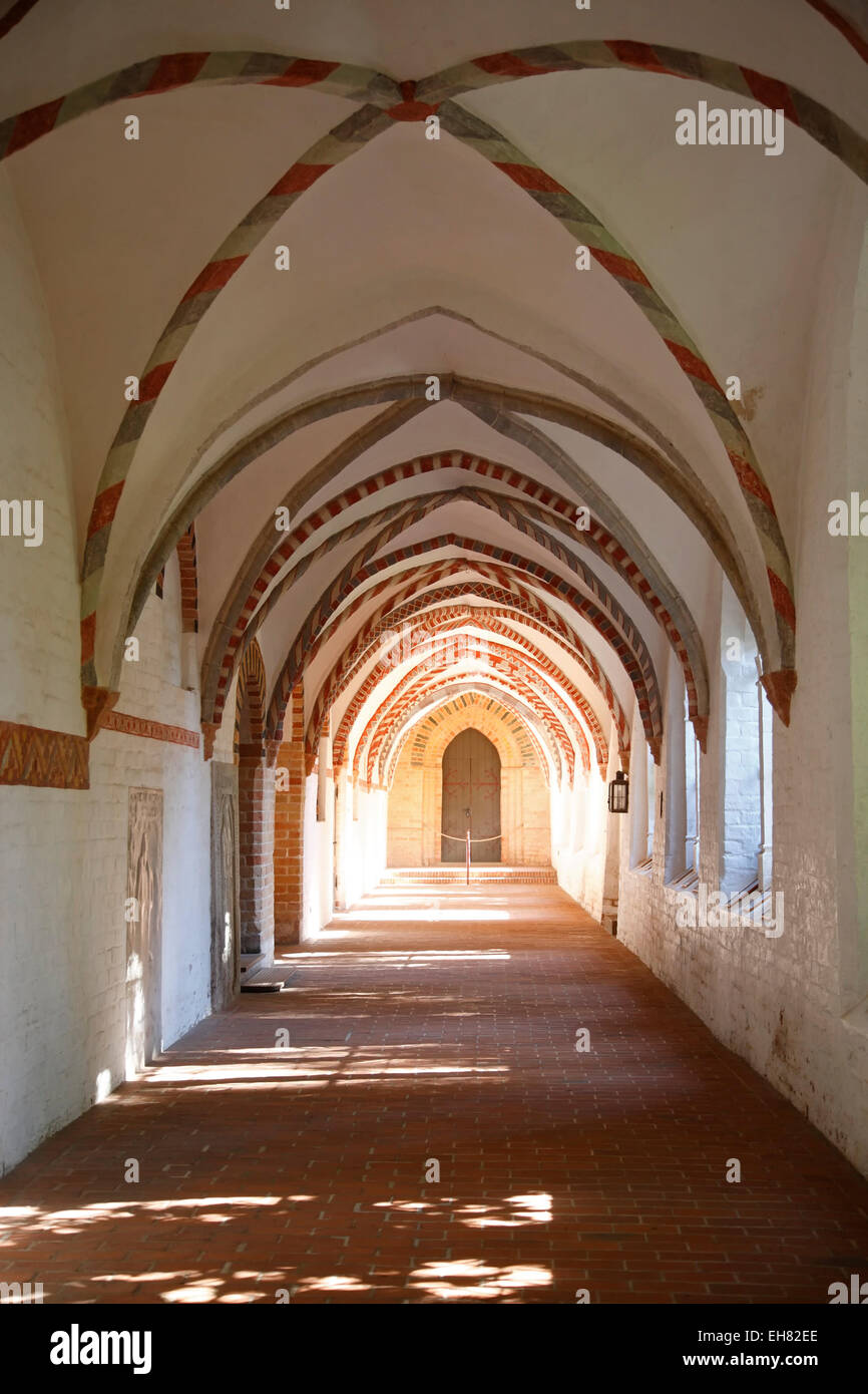Cloister at Ratzeburg cathedral, Schleswig-Holstein, Germany, Europe - Stock Image