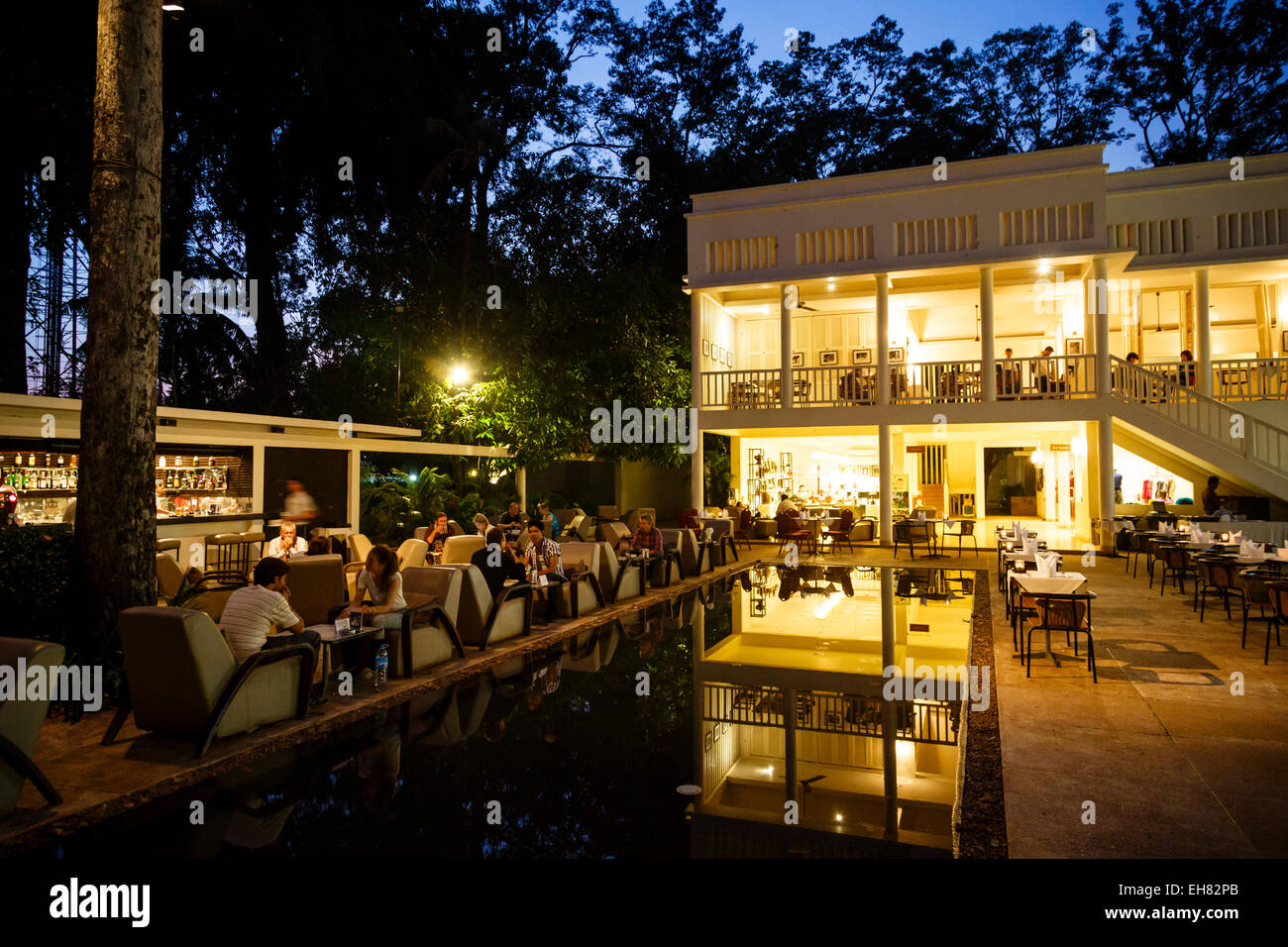The FCC Angkor, Foreign Correspondents Club, hotel and restaurant, Siem Reap, Cambodia, Indochina, Southeast Asia, - Stock Image