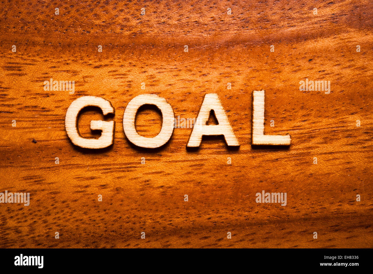 word goal written with wooden letters - Stock Image
