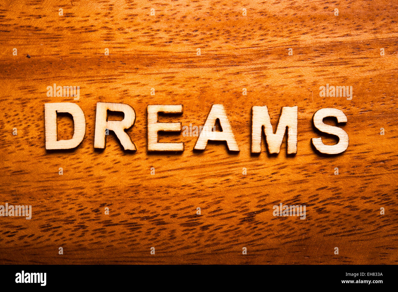 word dreams written with wooden letters - Stock Image