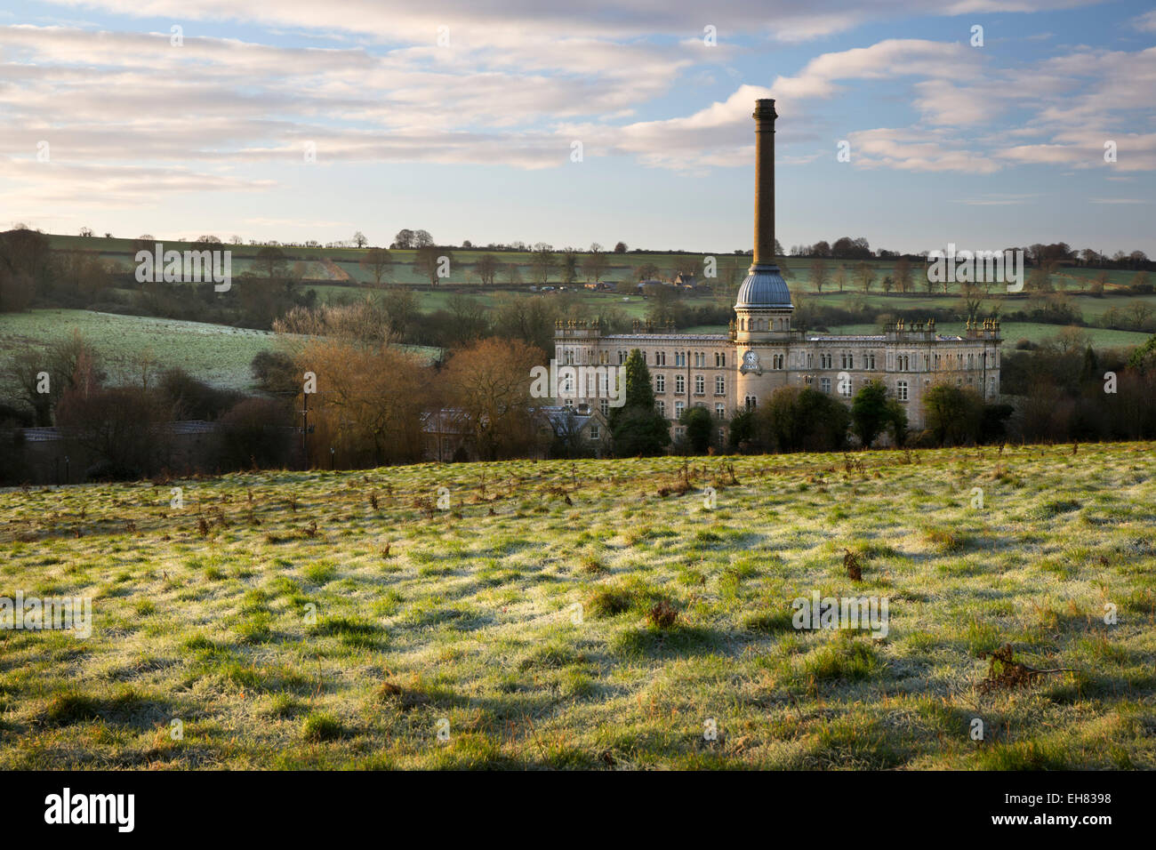 Bliss Mill on frosty morning, Chipping Norton, Cotswolds, Oxfordshire, England, United Kingdom, Europe - Stock Image