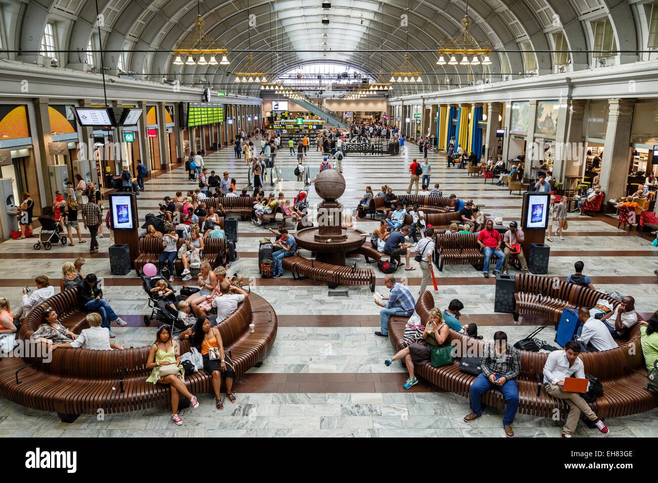 Stockholm Central Station, Stockholm, Sweden, Scandinavia, Europe - Stock Image