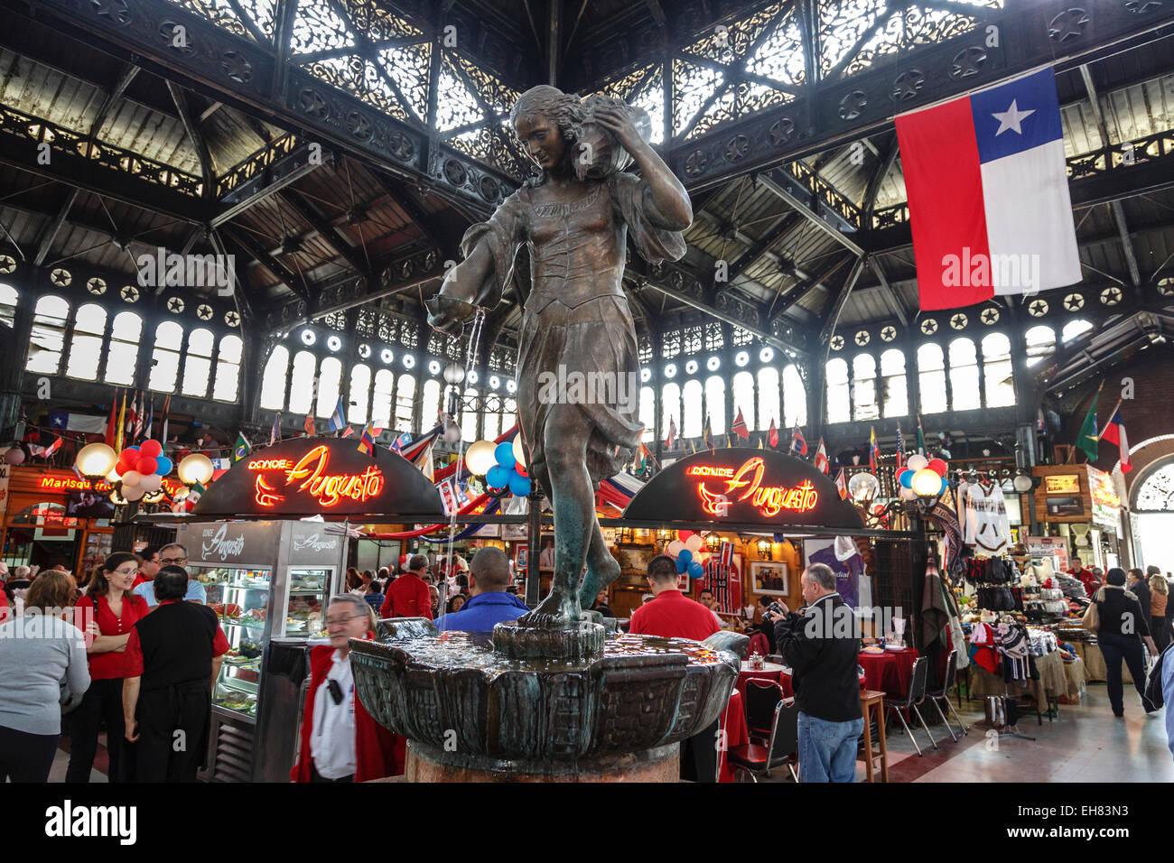Mercado Central, Santiago, Chile, South America - Stock Image