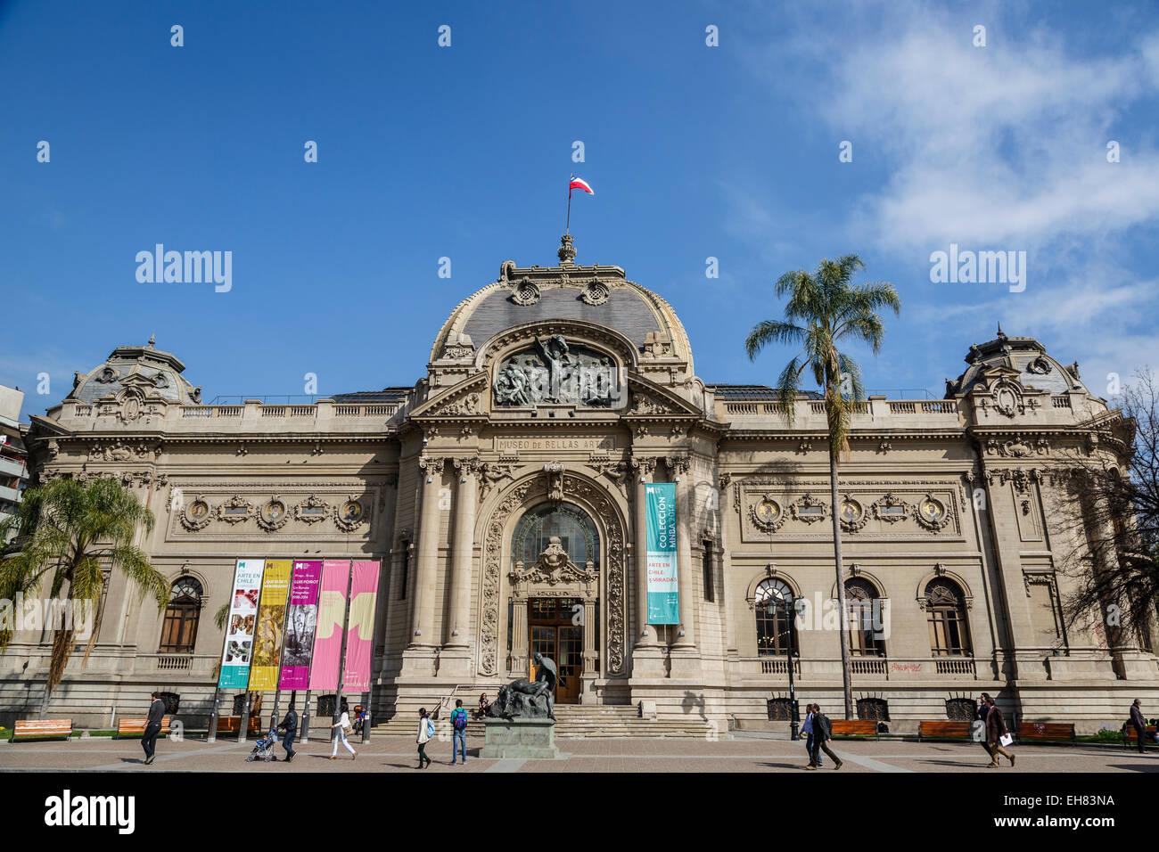 Museo Nacional de Bellas Artes (Chilean National Museum of Fine Arts), Santiago, Chile, South America - Stock Image
