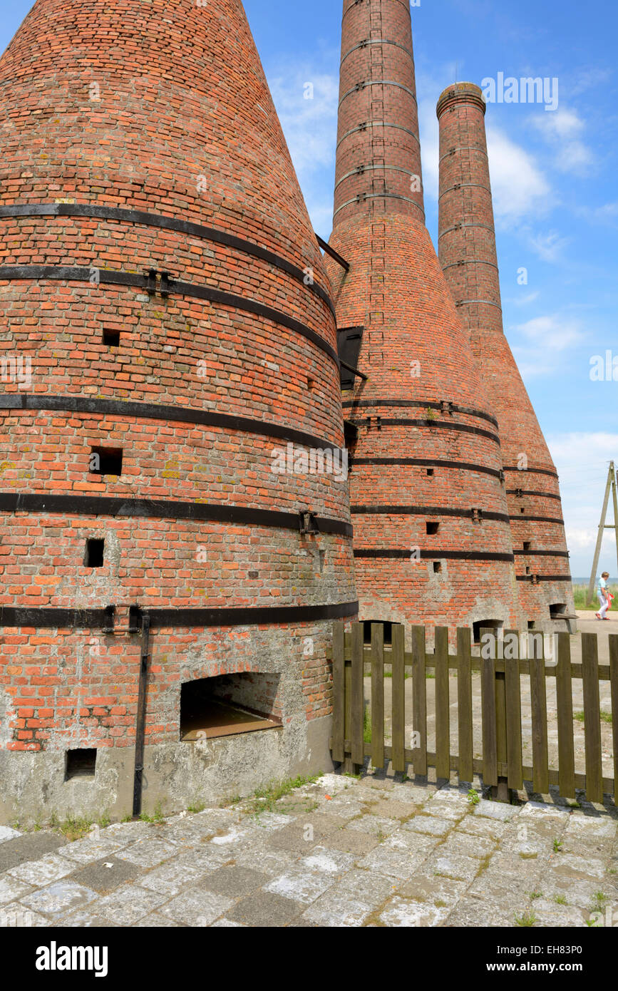 Lime kilns, Zuiderzee open air museum, Lake Ijssel, Enkhuizen, North Holland, Netherlands, Europe - Stock Image