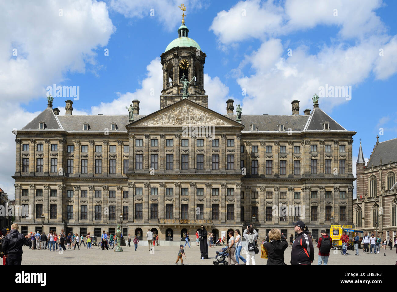 Royal Palace, Dam Square, Amsterdam, North Holland, Netherlands, Europe Stock Photo