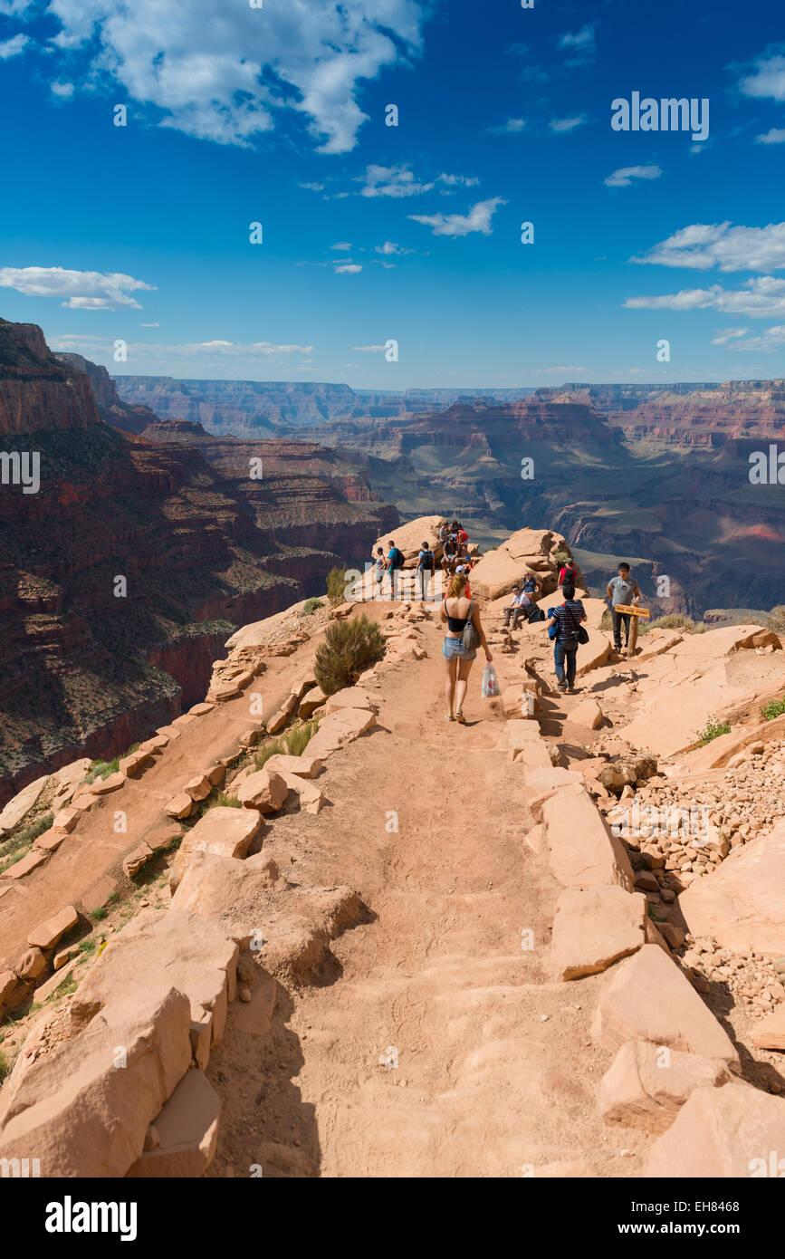 South Kaibab Trail In Grand Canyon National Park, Arizona, USA - Stock Image