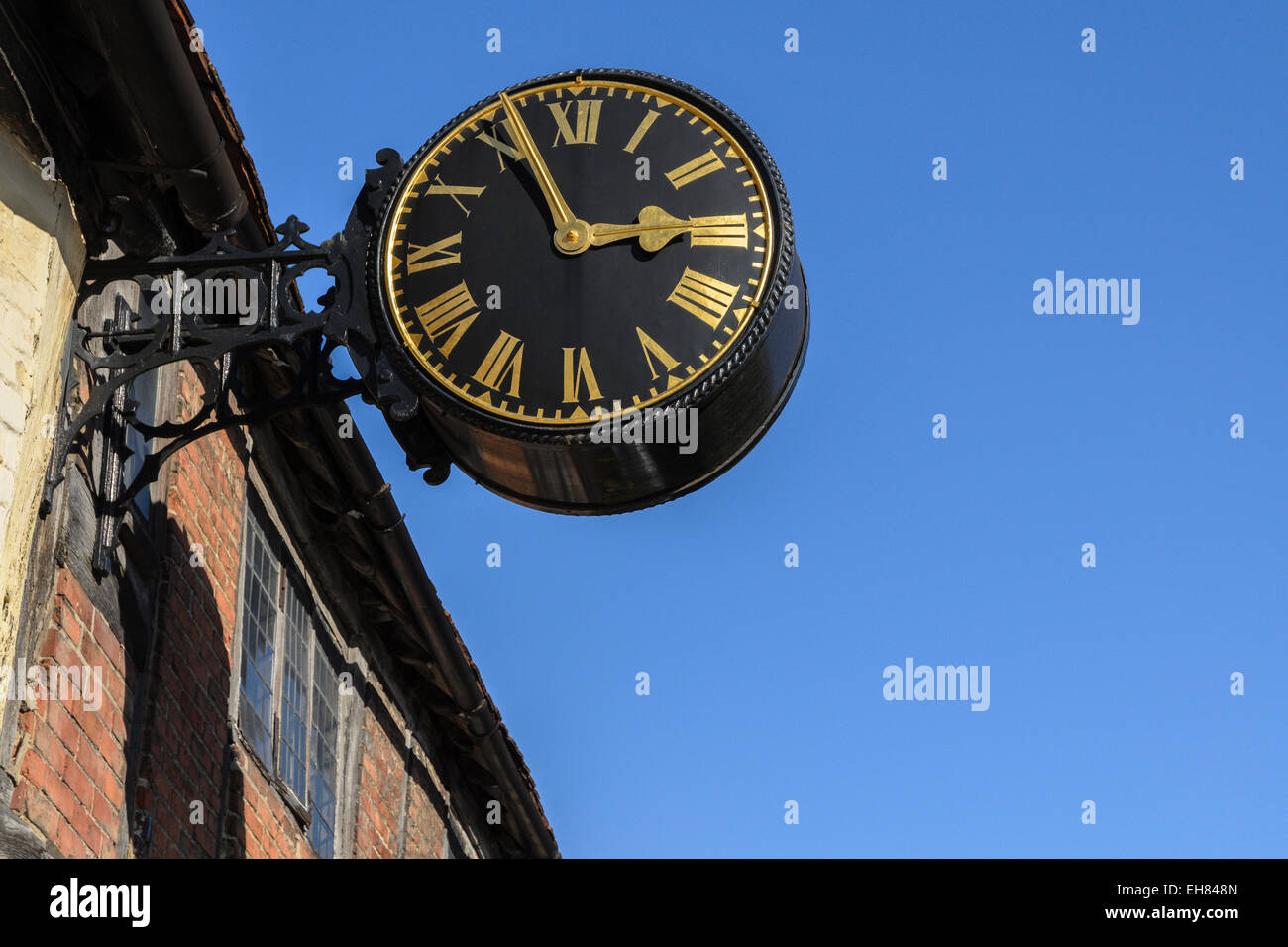 The Clock on West Wycombe High Street. - Stock Image