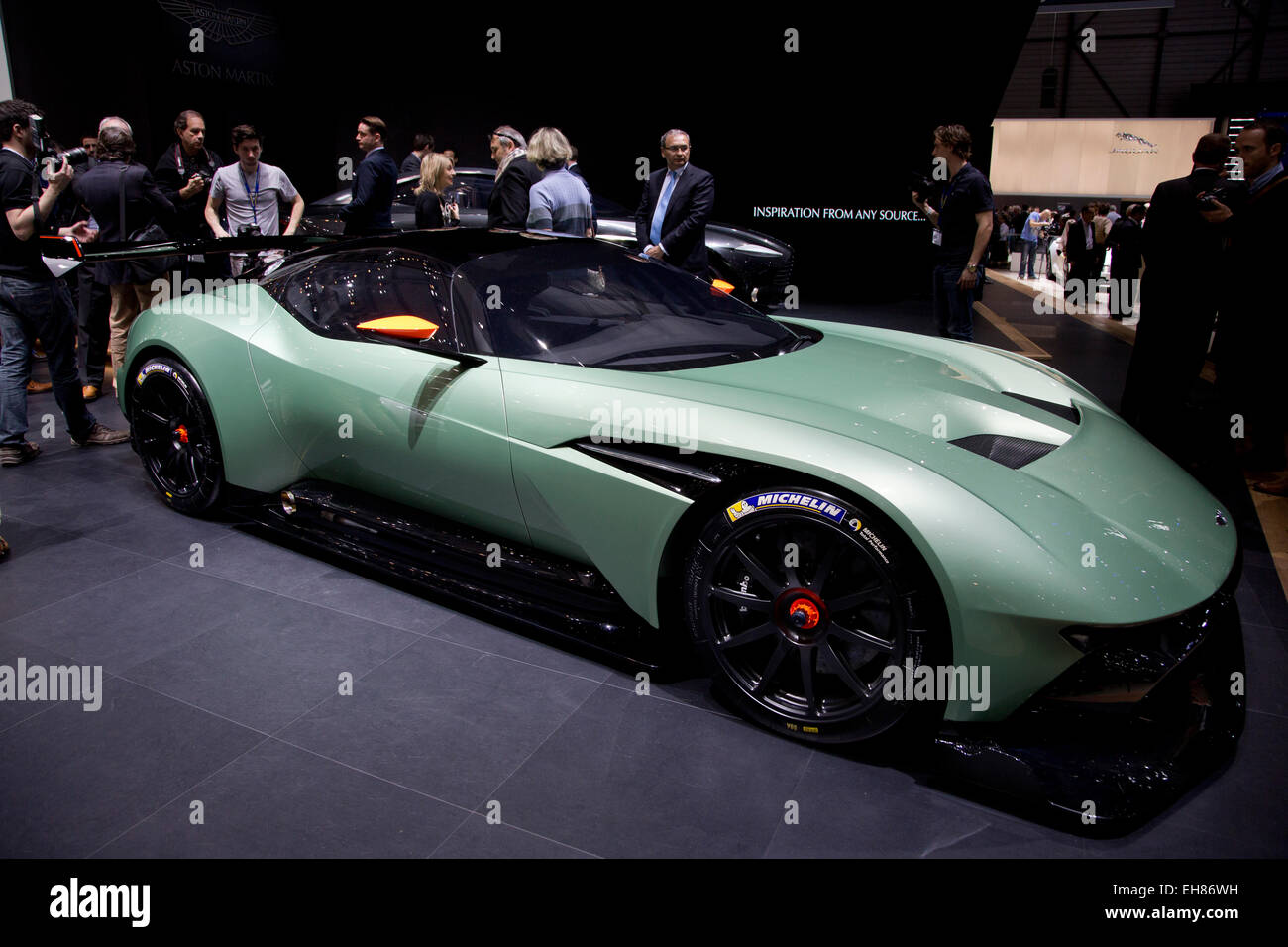 Aston Martin Vulcan shown at the Geneva Motor Show 2015 - Stock Image