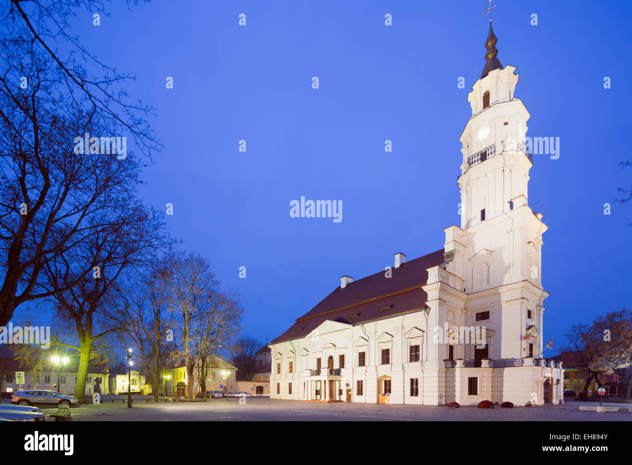 Town Hall of Kaunas, Kaunas, Lithuania, Europe - Stock Image