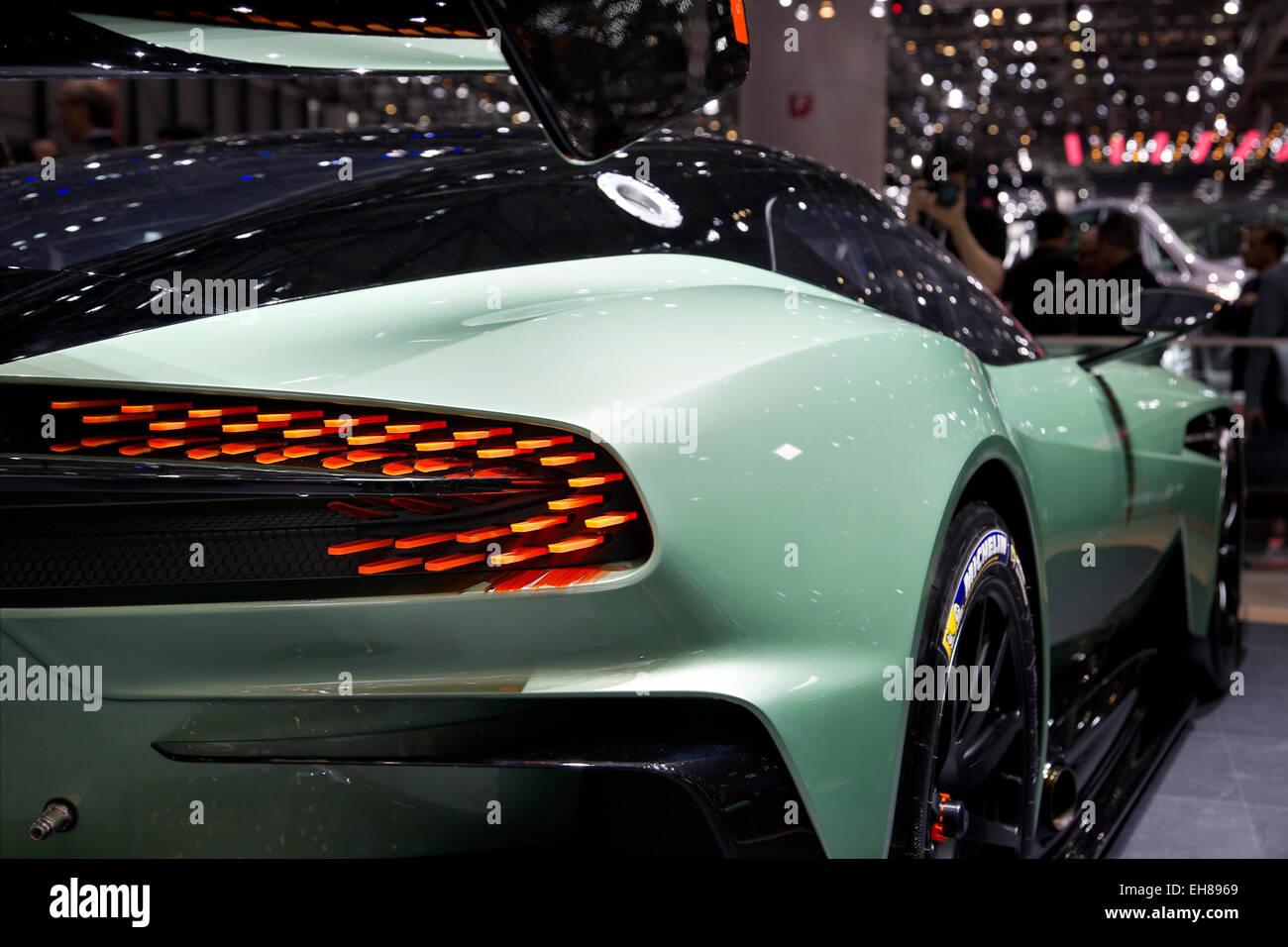 Aston Martin Vulcan Shown At The Geneva Motor Show 2015 Stock Photo Alamy
