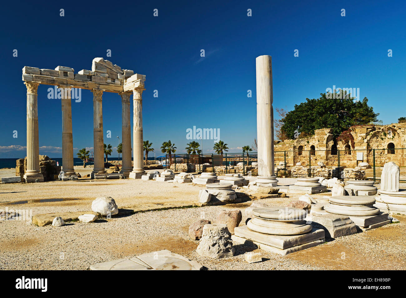Temple of Apollo, Side, Antalya Province, Anatolia, Turkey, Asia Minor, Eurasia - Stock Image