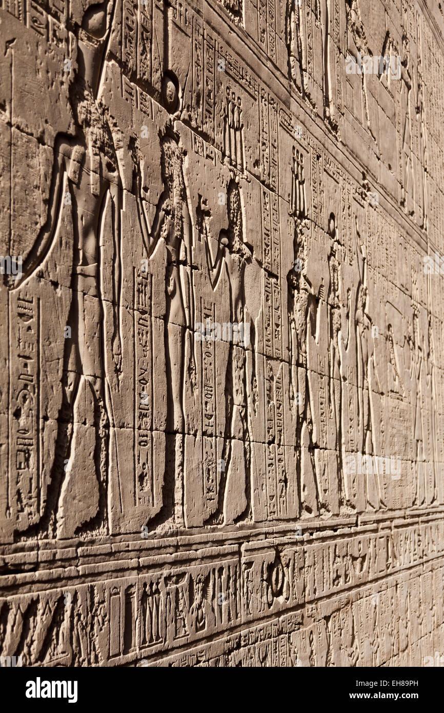 An ancient egyptian bas relief stock photos