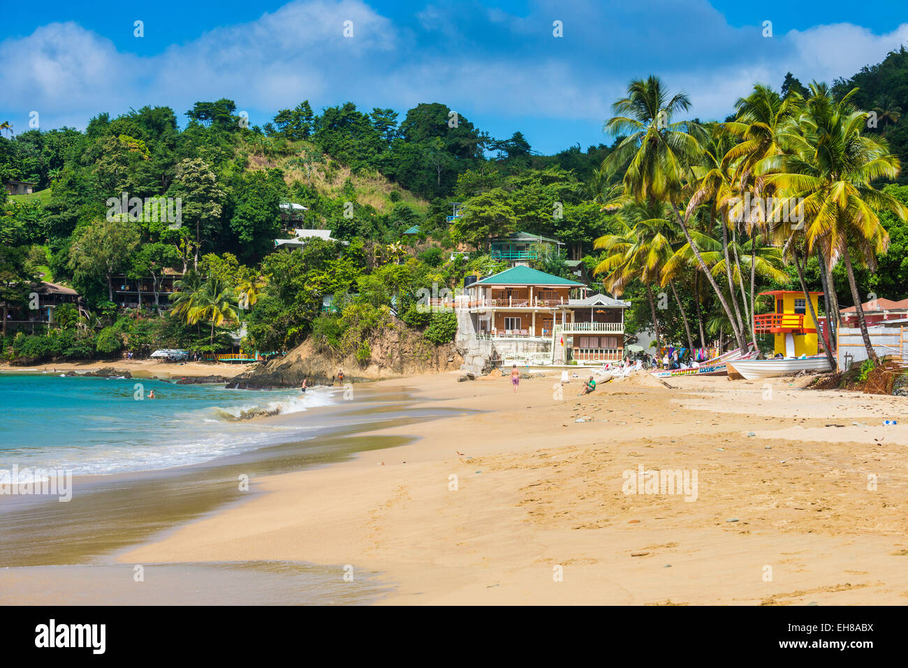 Beach of Castara,Tobago, Trinidad and Tobago, West Indies, Caribbean, Central America - Stock Image