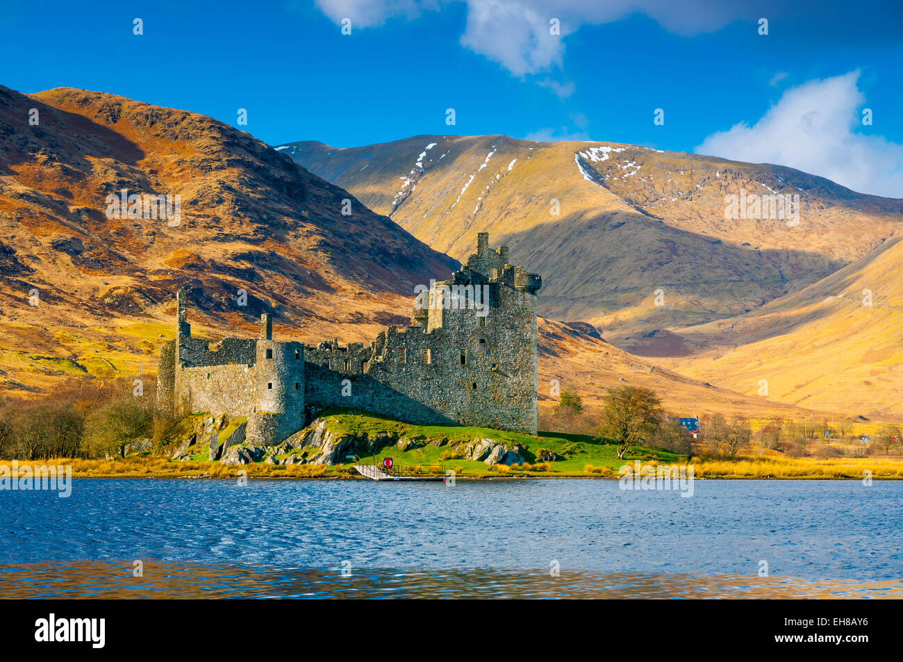 Kilchurn Castle, Loch Awe, Argyll and Bute, Scotland, United Kingdom, Europe Stock Photo