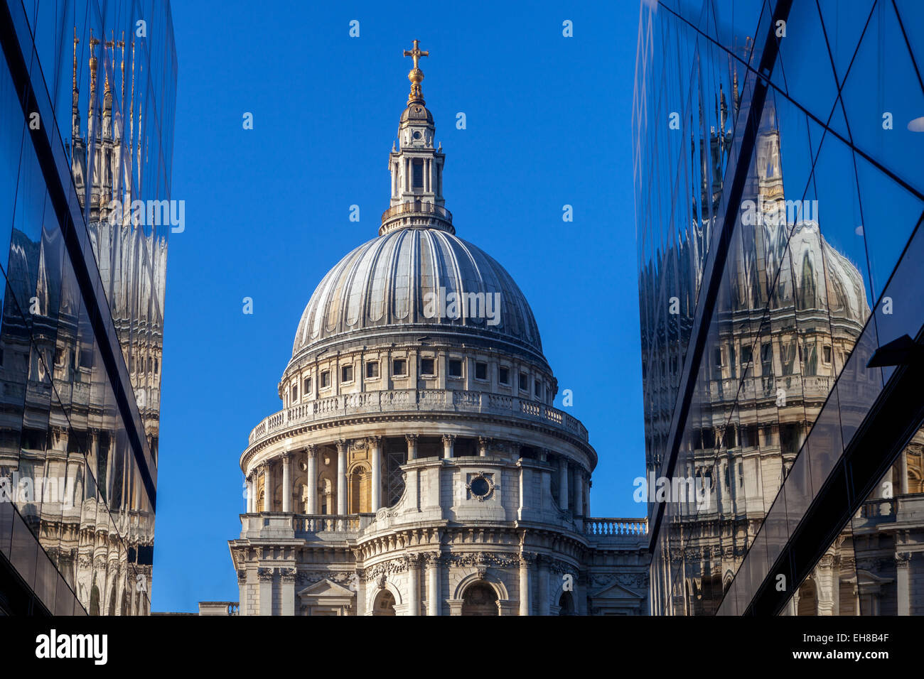 St. Paul's Cathedral viewed from One New Change in the City of London, London, England, United Kingdom, Europe - Stock Image